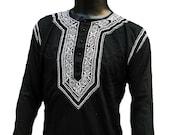 Custom order of Iman Allen for Two Black on Black kurtas customized to fit