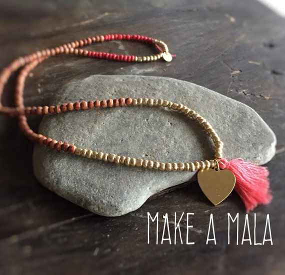 Make Your Own Tassel Necklace: Make A Mala Necklace Kit Make Your Own Tassel Necklace