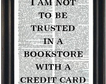Book Lovers Gift Book Quote Print Literary Print Funny Quote  Bookworm Gift