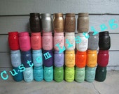 15 Jars ANY COLOR(S) Painted and Distressed Ball Mason Jars-Flower Vases, Rustic Wedding, Centerpieces, Bridal/Baby Shower Decor Decorations
