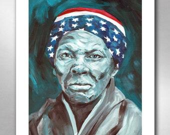 Harriet Tubman - American Hero Art Print 11x14 by Rob Ozborne