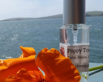California Poppy Tonic. Calm. Relax. Soothe. Pure Organic Poppy. Seasonal and Fresh. Sacral Chakra.