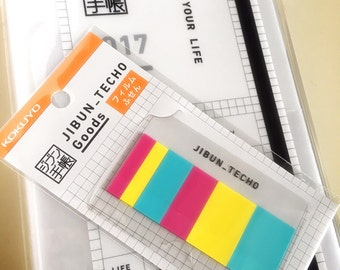 Jibun techo, Jibun techo sticky notes, planner sticky memo, planner stickers, stickertabs, sticky notes, flags, sticky tabs, flags index,