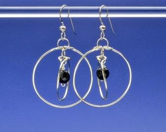 Black Onyx Orbit Earrings