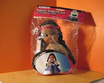 "Fibre Craft Native American Air Freshener Doll  5 3/4"" High plus pattern 3067"