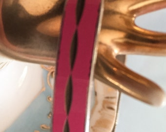 Pink Enamel Bangle Bracelet Vintage Jewelry SUMMER SALE