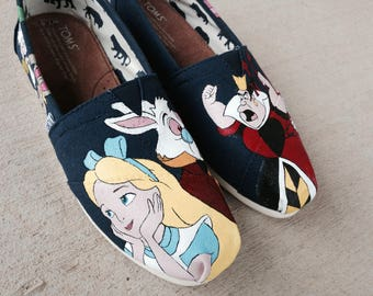 Custom Hand Painted Shoes - Alice in Wonderland