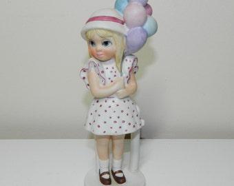 Margaret Keane Big Eyes Figurine Limited Edition- Balloon Girl 1975