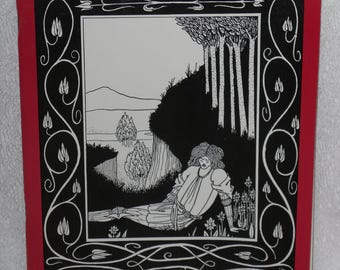 Aubrey Beardsley Designs from the Age Chivalry Holdridge Art Nouveau Style Vintage Book