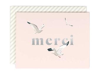 Merci Seagull - Thank You Card