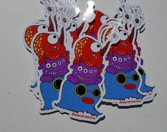 Monster Stacker 2!  Large Vinyl Sticker