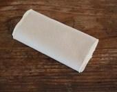 SECONDS -- Organic Cotton Unbleached Muslin Handkerchiefs - Set of 12