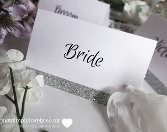 Glitter Sparkle Place Name Cards (x10)