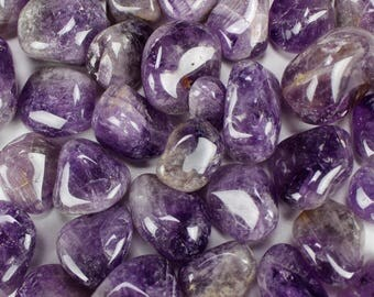 "Multipack .75""-1.5"" purple Amethyst tumbled crystals natural gemstone rock stone quartz crystals mineral specimen"