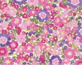 Regent Street Lawn 2016 by Moda - Floral Hampton Court - Multi Wiste - 1/2 Yard Cotton Lawn Fabric 117