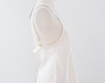 Vintage SILK Sleeveless Tank Top, Plus Size LARGE Blouse, 90s Silk Cami, Vintage Camisole, Creamy White, Slipper Silk, Liquid Satin