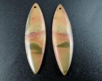 Fabulous cherry creek  jasper  earrings pair,  Natural stone, Jewelry making supplies S7717