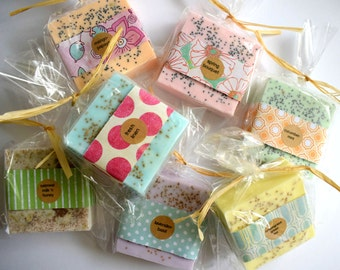 10 bars SOAP Bridesmaid Gift:  bridesmaid favors, soap favors, rustic wedding, vintage wedding