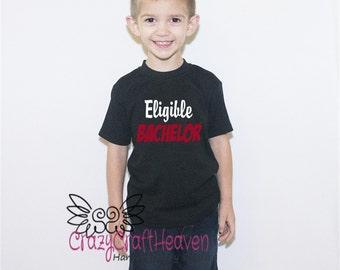 Eligible Bachelor Shirt, Boy Valentine's Day Shirt, Baby Valentine, Ladies man, Little ladies man, Baby valentines day Shirt, baby Bachelor