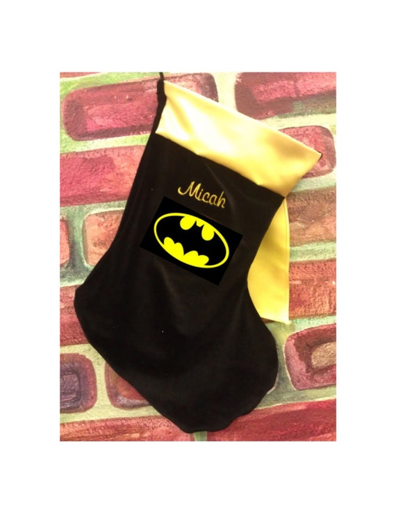 personalized batman inspired christmas stocking ships in 5