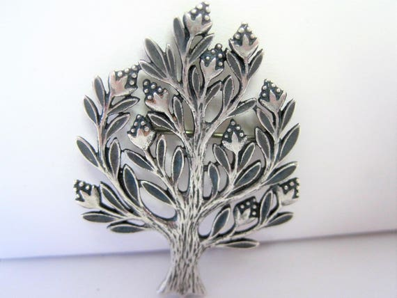James Avery Tree Pin -  925 Sterling - Tree of Life - Retired  Brooch - Arbor Day Pin