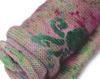 Yarn Of The Month, Sock Blank Club,  Stenciled Sock Blank, Superwash Sock Yarn, Hand Dyed Sock Yarn, Washable Sock Yarn