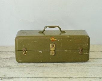 Vintage Sturdibilt Tackle Box Fishing Two Cantilever Trays Tool Box Toolbox