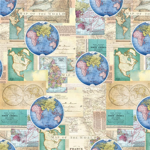Map fabric world map north america map quilting material map fabric world map north america map quilting material sewing material europeasiaafricausa craft supplies appareldiy homedecor from gumiabroncs Gallery