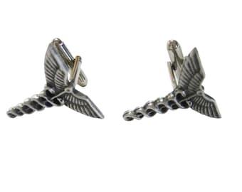 Textured Medical Symbol Caduceus Cufflinks