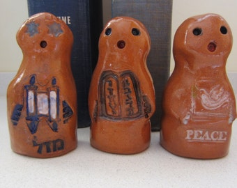 GOLEMS : Torah, Ten Commandments or Peace Golems One of a Kind Magical Mythical Protector Ceramic Figurine