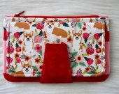 Floral Corgies Pearl Wallet by Swoon