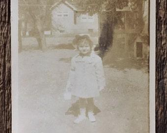 Original Vintage Photograph Judy in her Bonnet 1946