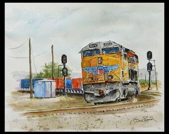 "Union Pacific 8226 - archival giclee art print 8"" x 10""."