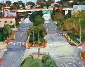Original Oil Painting-Landscape art-Plein Air-Urban art-Modern landscape-City street-Impressionist-Affordable wall art-Interior decor-Small