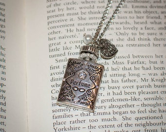Whimsical Perfume Bottle Charm Necklace