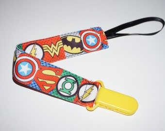 Super Hero Pacifier Clip, Binky Clip