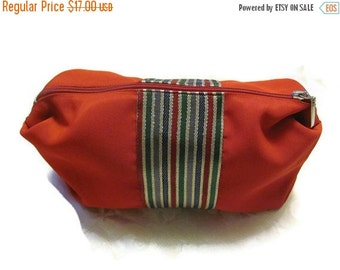 ON SALE Make Up Bag - Clutch Wallet - Red - Middle Eastern Fabric Under 25 Handmade