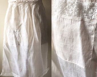 Laye Victorian / early Edwardian otton organdy pinny