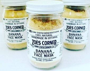 Banana - Face Mask -All Natural -Handmade