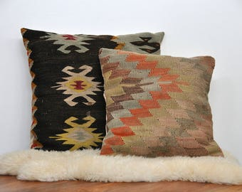 Killum Rug Throw Pillow - Moroccan Boho Indie