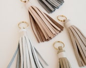 Custom Listing / 6 Leather Tassels in Desert Colors with Natural Whipping
