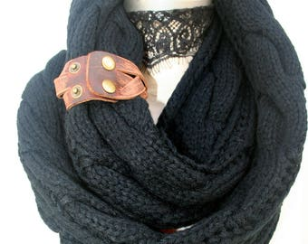Hand knit knitted infinity scarves scarf scarfs, Most Sold Item, Winter Scarves, Winter Scarf, PiYOYO