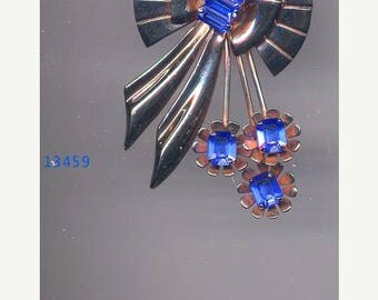 15% DISCOUNT S/S Art Deco Style Brooch/Er with Blue Sets    Item No: 13459