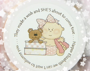 Baby Shower Favors - Personalized Whipped Body Butter - Baby Girl - Unique Shower Favors