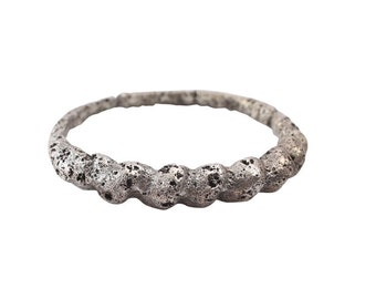 Ancient Viking Silver Wedding Band  C.900A.D. Size 9 3/4    (19.6mm)[PWR1135]