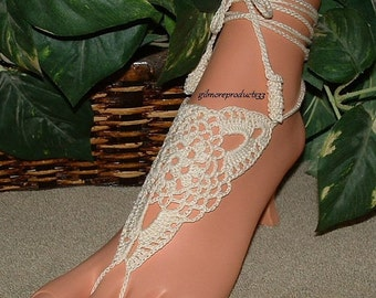 Bride Anklet Toe Chain Barefoot Sandals Bridal Foot Jewelry Beach Wedding Shoes SIZED Ankle Bracelet Sandles Accessories Bridal Shoes Flat
