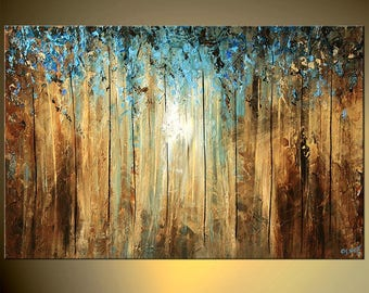 Landscape Canvas Print - Stretched, Embellished & Ready-to-Hang  - A Ray of Light - Art by Osnat
