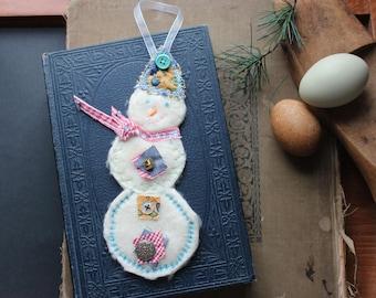 Snowman Handmade Soft Christmas Ornament Decoration Winter Decor