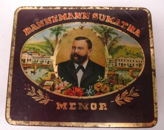 Vintage Dannaman Sumatra Menor Cigar Tin Made West Germany Brazilian Cigars