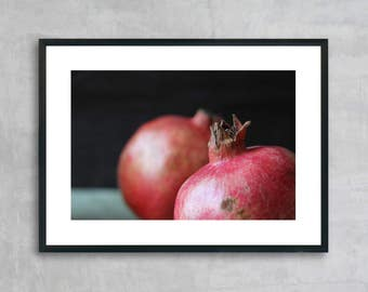 Pomegranate / dark background  - Instant download digital print - Wall art - Photography - Poster - Home decor